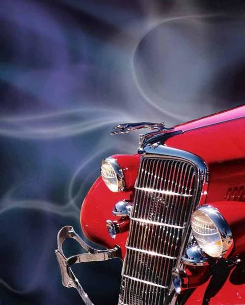 Wall Art - Digital Art - Old Red Hotrod by Diana Shively