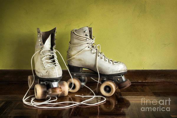 Brakes Photograph - Old Roller-skates by Carlos Caetano