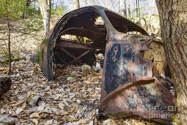 Photograph - Old Rusted Car - Waterville Valley New Hampshire by Erin Paul Donovan