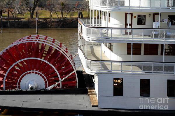 Old Sacramento California . Delta King Hotel . Paddle Wheel Steam Boat . 7d11526 Art Print
