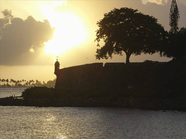 Sentry Box Photograph - Old San Juan Sunset by George Oze