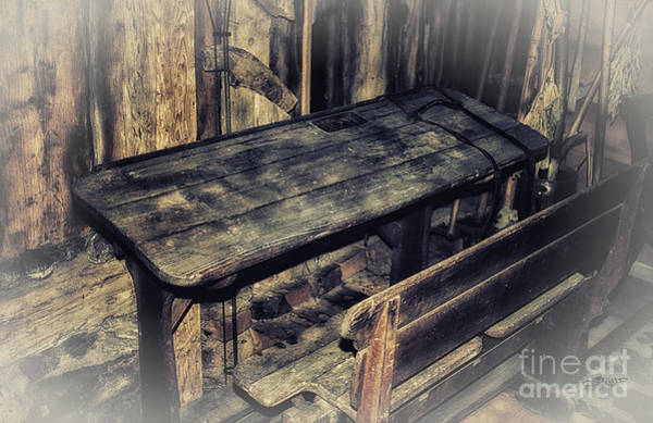 Photograph - Old School Desk by Jutta Maria Pusl
