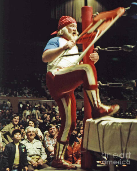 Wall Art - Photograph - Old School Wrestling From The Cow Palace With Moondog Mayne by Jim Fitzpatrick