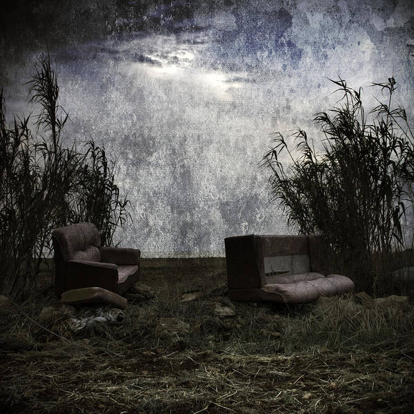 Bamboo Photograph - Old Sofas by Stelios Kleanthous