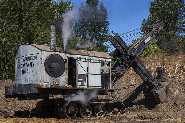 Excavator Photograph - Old Steam Shovel  by Garry Gay