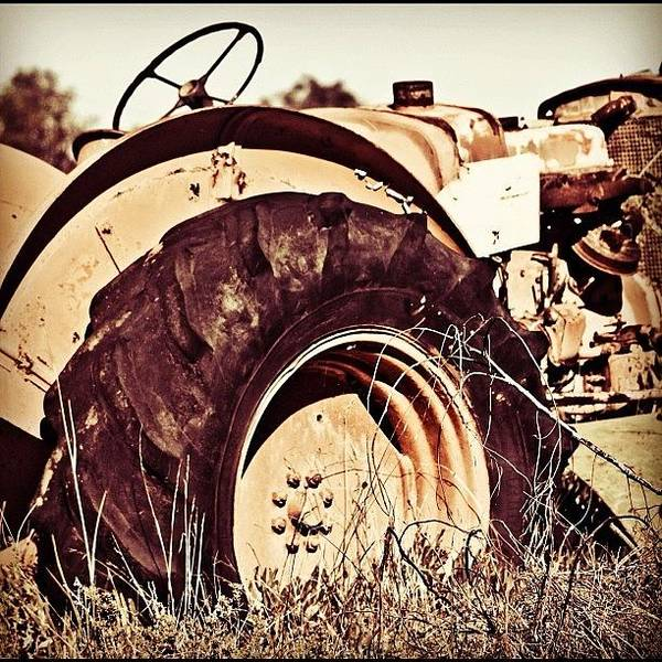 Vehicle Photograph - Old Times #vehicle, #old, #tractor by Johan Van Zyl