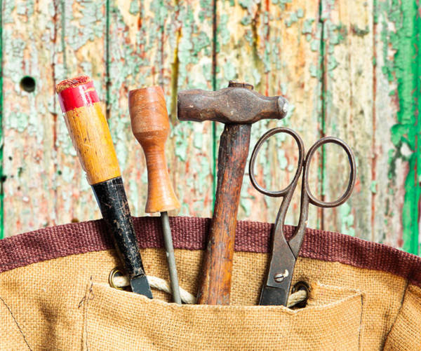 Relic Photograph - Old Tools by Tom Gowanlock