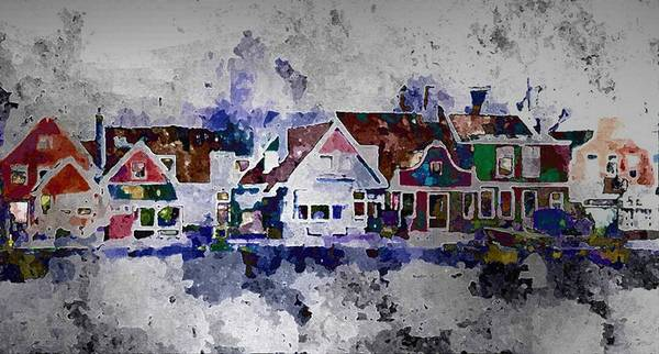 Wall Art - Painting - Old Town Village by Lynda K Cole-Smith