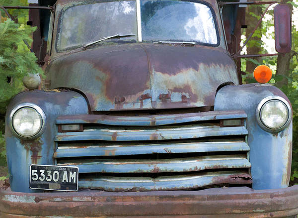 Dump Truck Photograph - Old Truck I by John Crothers
