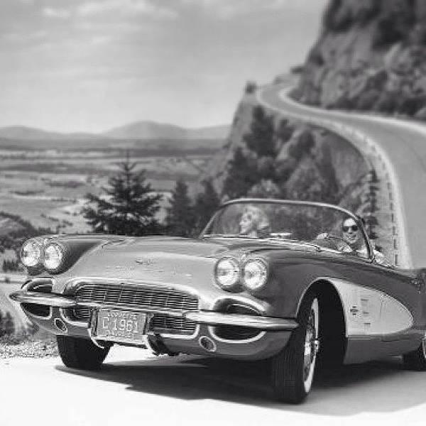 Chevrolet Corvette Photograph - Old #vette #blackandwhite #corvette by Tyler Hittner