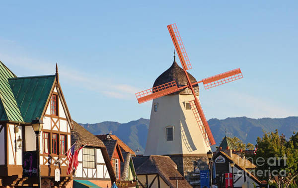 Solvang Photograph - Old Village And Windmill by Paul Topp