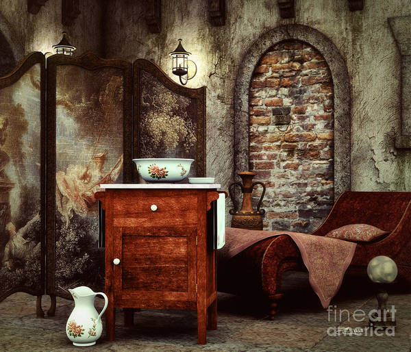 Digital Art - Old Washstand by Jutta Maria Pusl