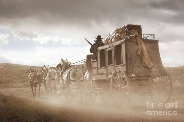 Stagecoach Photograph - Old West Stagecoach by Heather Swan