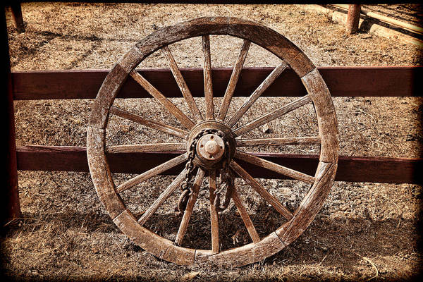 Wall Art - Photograph - Old West Wheel by Kelley King