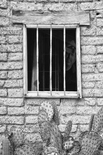 Photograph - Old Western Jailhouse Window In Black And White by James BO Insogna