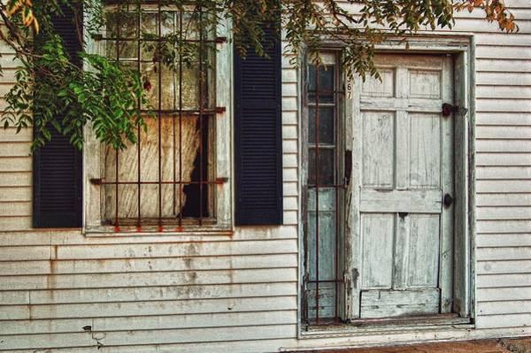 Digital Art - Old White Door by Michael Thomas