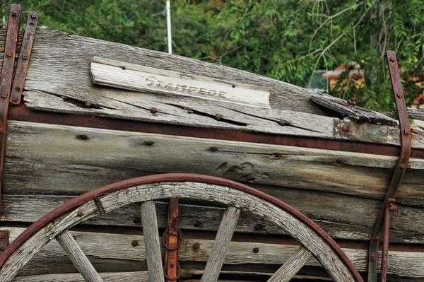 Photograph - Old Wooden Wagon by Trever Miller