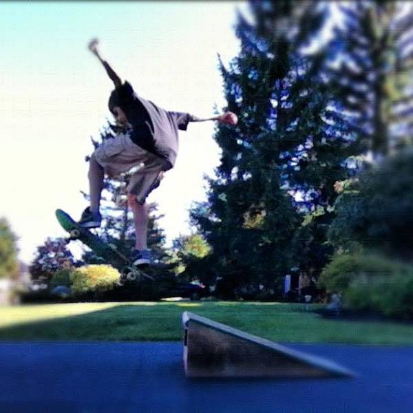 Element Wall Art - Photograph - Ollie Of My Kicker 1st Of The Day by Kory Magdziuk