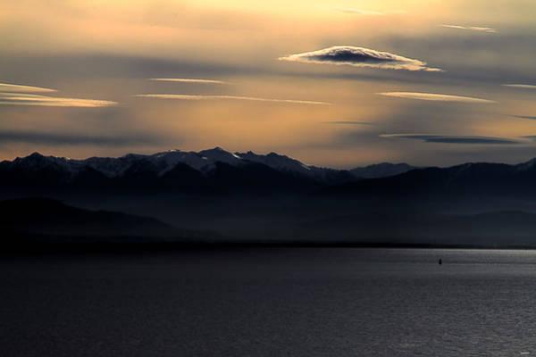 Photograph - Olympic Sunset by Joseph Noonan