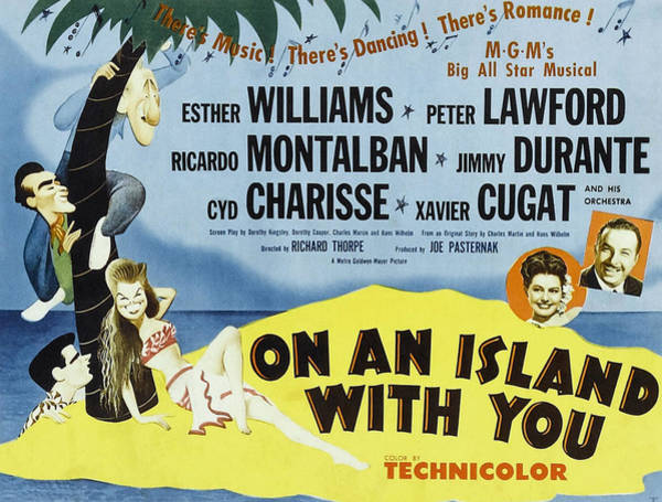 On An Island With You, Peter Lawford Art Print