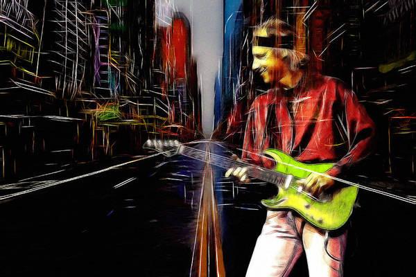 Progressive Rock Painting - On Every Street by Steve K