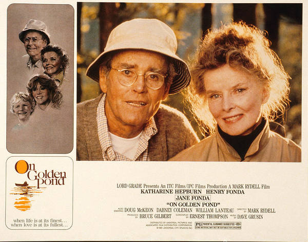 1981 Photograph - On Golden Pond, Henry Fonda, Katharine by Everett