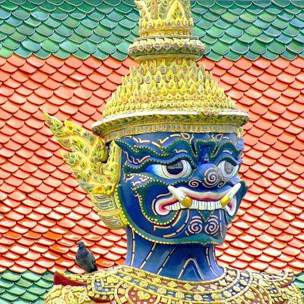 Travel Photograph - On Guard.. #thailand #travel by A Rey