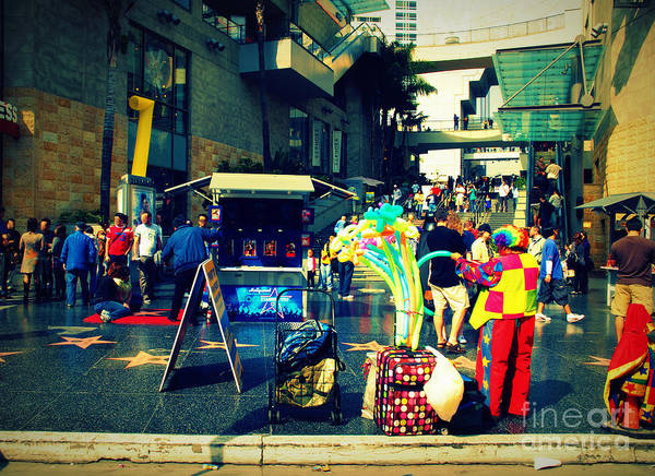 Photograph - On Hollywood Boulevard In La by Susanne Van Hulst