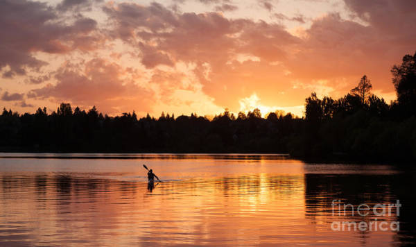 Paddling Photograph - On The Lake by Mike Reid