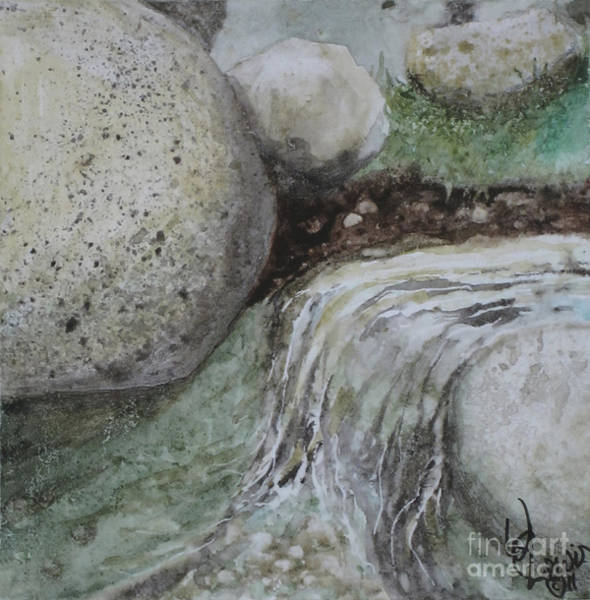 Sand Creek Painting - On The Rocks by Will Lewis