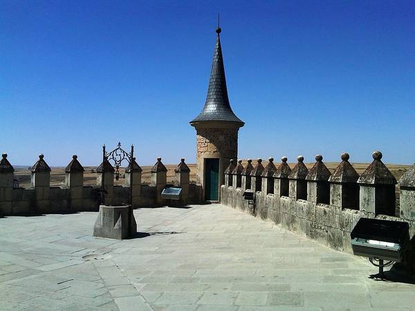 Photograph - On The Roof II Of Segovia Castle With Cone Shaped Railing In Spain by John Shiron