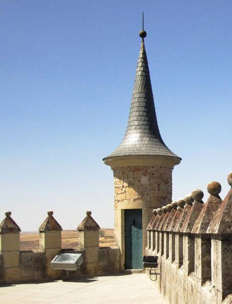 Photograph - On The Roof Of Segovia Castle With Cone Shaped Railing In Spain by John Shiron