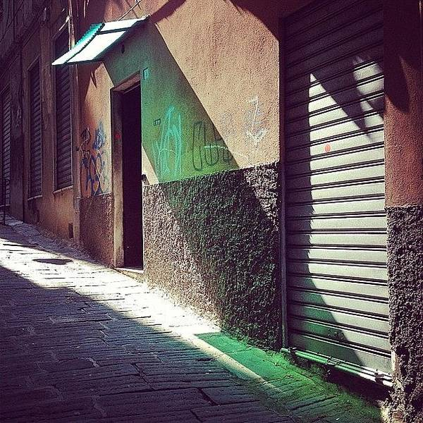 Shop Wall Art - Photograph - On The Sunny Side Of The Street #italy by A Rey