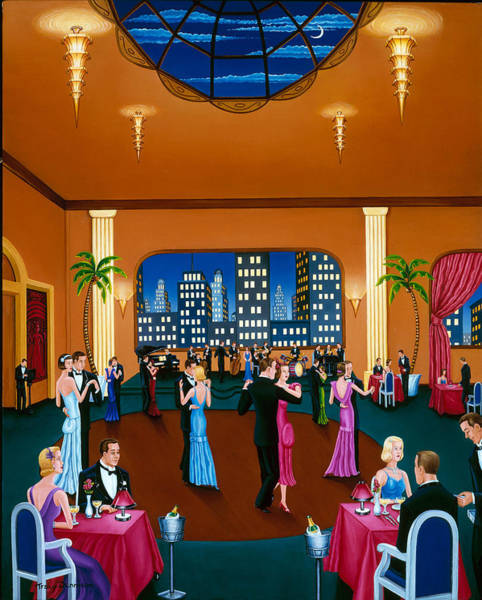 Painting - On The Town by Tracy Dennison