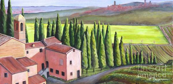 Holly Brannan Wall Art - Painting - On The Way To Sienna by Holly Bartlett Brannan