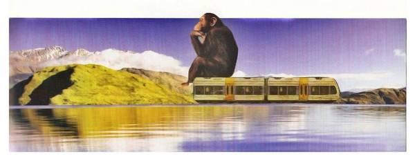 Wall Art - Digital Art - On Train. Lake. by Karma Fox