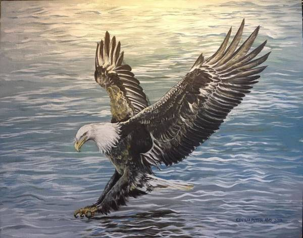 Pray For Love Wall Art - Painting - On Wings Of Eagles by Cecilia Putter