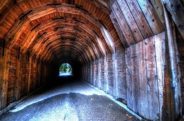 Photograph - Oneonta Gorge Tunnel by Matt Hanson