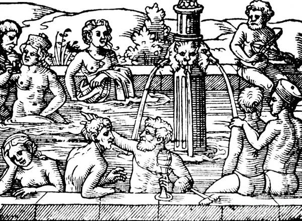 Photograph - Open-air Bath Balneology 1571 by Science Source