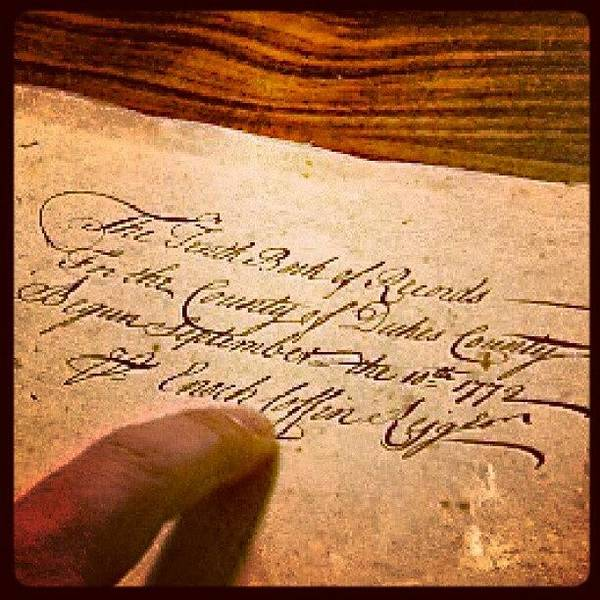 Run Photograph - Opening Page Of Deed Book From 1772 For by Hit And Run History