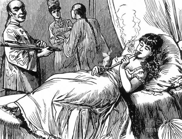 Opium Den, 1877 Art Print