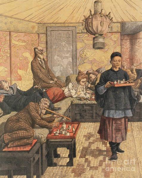 Opium Den In France, 1903 Art Print