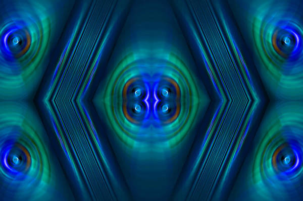 Digital Art - Optical Blue by Carolyn Marshall