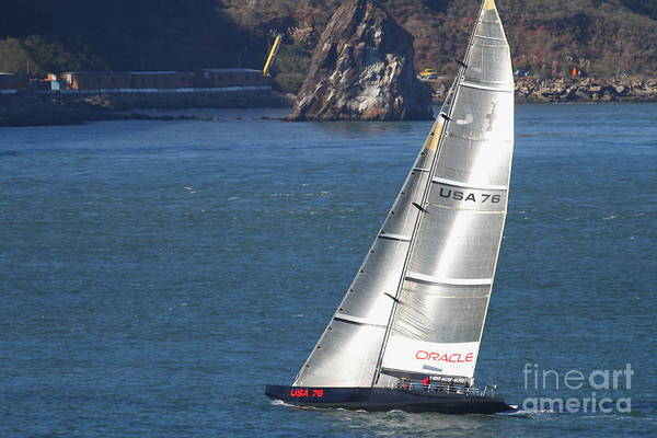 Photograph - Oracle Racing Team Usa 76 International America's Cup Sailboat . 7d8069 by Wingsdomain Art and Photography