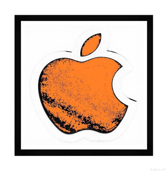 The Mac Wall Art - Photograph - Orange Apple by Rob Hans