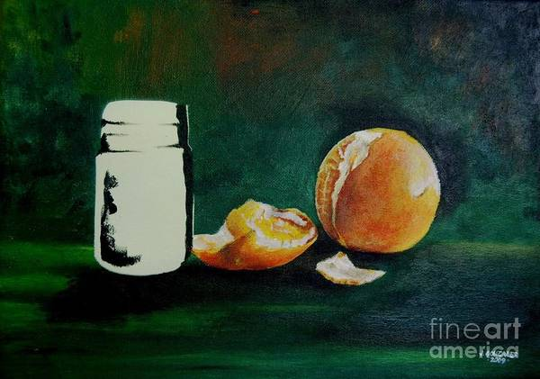 Wall Art - Painting - Orange C by Jay Anthony Gonzales