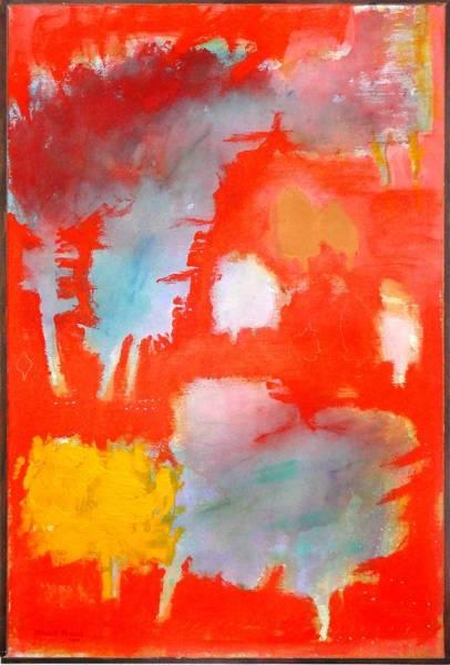 Wall Art - Painting - Orange Fall by Khalid Alaani