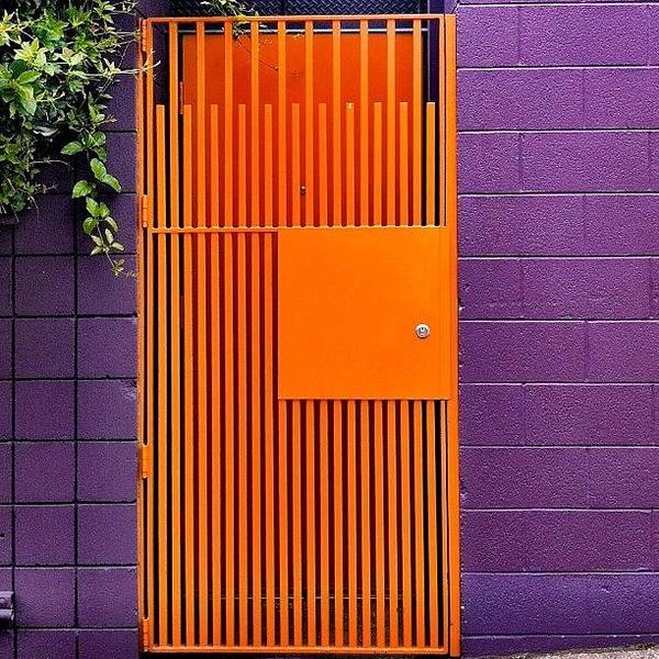 Wall Art - Photograph - Orange Gate by Julie Gebhardt