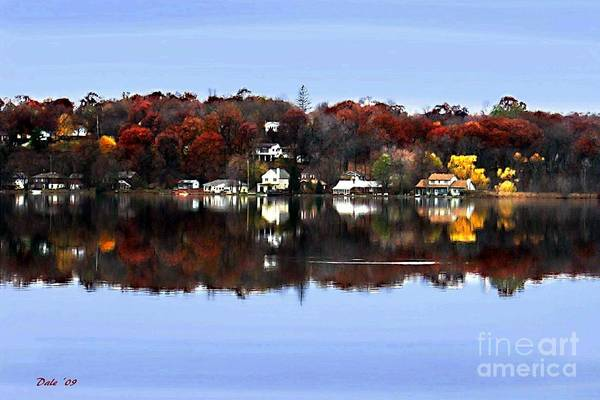 Digital Art - Orange Lake by Dale   Ford