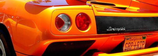 Photograph - Orange Lamborghinni  by Jeff Lowe